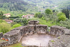 fortress of sarzanello Royalty Free Stock Images