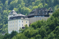Fortress Schloss Klaus, Austria. Schloss Klaus, castle and fortress in the Steyr valley in the Austrian Alps stock photos