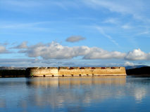 Fortress on sea. St. Nikola in Croatia, Sibenik Royalty Free Stock Images