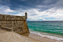 Fortress in Sesimbra, Portugal Stock Images