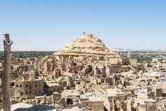 Fortress of Shali Schali the old Town of Siwa oasis in Egypt stock photography