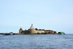 Fortress at Shlisselburg city. Fortress called Oreshek Stock Photos