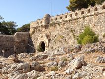 Fortress. The fortress on the shores of the Cretan sea Stock Photo