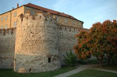 Fortress, Siklos, Hungary. A medieval fortress in Southern Hungary, an impressive sights for visitors Royalty Free Stock Photo