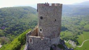Fortress Sokolac - Bihać. The fortress Sokolac is located on the left bank of Una river, three kilometers upstream of the town of Bihać, on a steep limestone Stock Photography