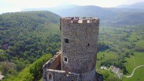 Fortress Sokolac- Bihać. The fortress Sokolac is located on the left bank of Una river, three kilometers upstream of the town of Bihać, on a steep limestone Stock Images