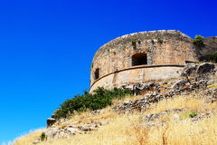 The fortress on Spinalonga Island Royalty Free Stock Photo
