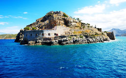 The fortress on Spinalonga Island Stock Image
