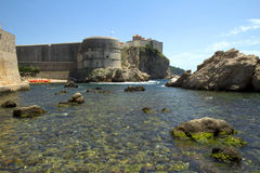 The Fortress Of St. Ivan. Dubrovnik. Croatia. The fortress of St. Ivan, is considered one of the largest fortifications in Croatia. The building dates from the stock photo