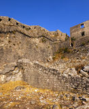 Fortress of St. Ivan Montenegro. The ruins of an ancient fortress of St. Ivan of Kotor. Montenegro royalty free stock photography