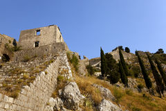 Fortress of St. Ivan Montenegro. The ruins of an ancient fortress of St. Ivan of Kotor. Montenegro royalty free stock image