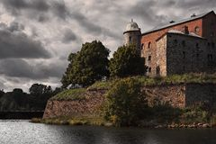 Fortress of  st Olaf castle in Vyborg Royalty Free Stock Image