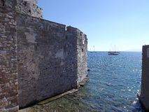 The fortress of St. Peter Bodrum Turkey. Museum of Underwater Archaeology Stock Photography