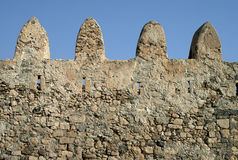 Fortress stone wall Royalty Free Stock Images
