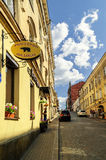 Fortress Street in Vyborg Stock Images