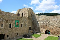 Fortress of Targu Neamt - walls Royalty Free Stock Photography