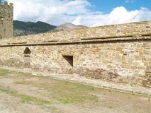 Fortress in Sudak Stock Photography