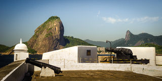 Fortress with Sugarloaf Mountain Royalty Free Stock Photo