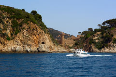 Fortress in Tossa de Mar, Spain Royalty Free Stock Images