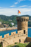 Fortress in Tossa de Mar Stock Photos