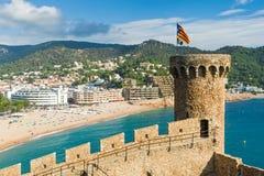 Fortress in Tossa de Mar Stock Photo