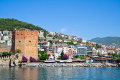 Fortress tower in Alanya Stock Photo