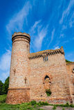 Fortress tower. On blue sky foge royalty free stock photos