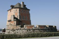 Fortress tower in brittany Royalty Free Stock Photography