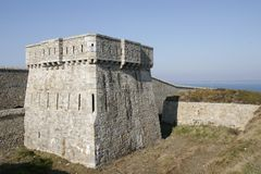 Fortress tower in brittany Royalty Free Stock Image