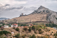 Fortress Tower of Genoa in Sudak Crimea, Russia Royalty Free Stock Photography