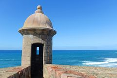 Free Fortress Tower In Old San Juan Puerto Rico Royalty Free Stock Image - 130731046