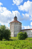 Fortress tower of Kirillo-Belozersky monastery by day. Stock Photography