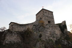 Fortress with tower. Momchilo's fortress (Momchilov grad) location east Serbia, Pirot , dates back to the 14th century. Photo taken on: November 20, 2015 stock images