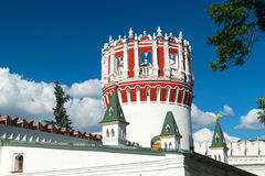 Fortress tower of the Novodevichy convent in Moscow Stock Images