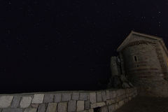 Fortress Tower starry night Stock Photo