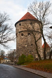 Fortress tower in Tallinn Stock Photo