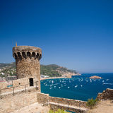 Fortress tower in Tossa de Mar Royalty Free Stock Photo