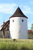 Fortress tower Zumberk. White fortress zumberk in South Bohemia, Czech Republic Royalty Free Stock Image