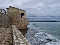 Fortress town. Ancient Porec town in Croatia stock image