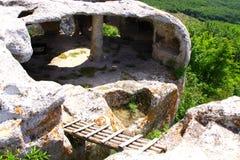 Fortress town Eski-Kermen Stock Image