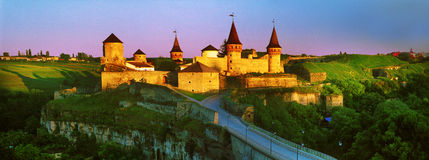Fortress  in the town of Kamenetz-Podolsk Royalty Free Stock Photo