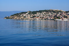 The fortress of Tsar Samuil photographed from distance, in Ohrid Stock Photos