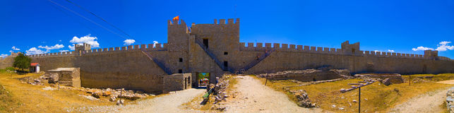 Fortress of tzar Samoil, 10th century panorama. Fortress of tzar Samoil, 10th century, Ohrid, Macedonia panorama Royalty Free Stock Photo