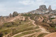 Fortress Uchisar, Cappadocia, Turkey Stock Images