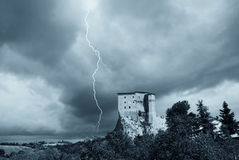 Fortress under cloudy sky Royalty Free Stock Photography