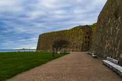 The fortress in Varberg, Sweden. stock images