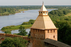 Fortress in Velikiy Novgorod. Velikiy Novgorod is one of the oldest and most beautiful cities in Russia royalty free stock images