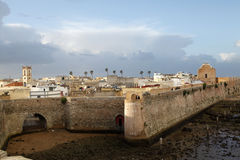 Fortress. View of the fort in a city of Morocco Royalty Free Stock Photo