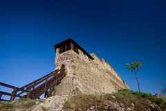 Fortress in Visegrad Stock Image