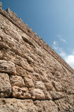 Fortress Wall . The wall of an ancient fortress royalty free stock image
